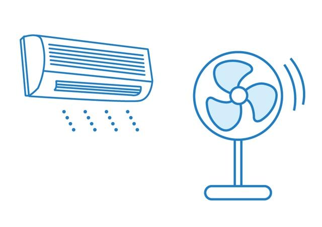 エアコンと扇風機の電気代