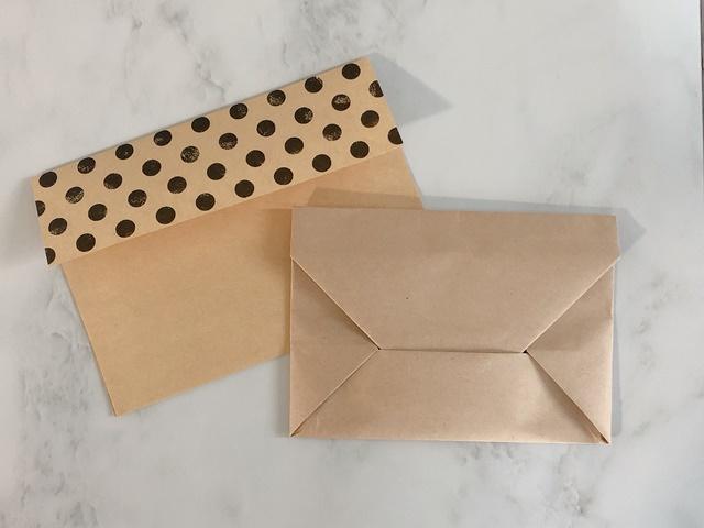 写真サイズの封筒の折り方