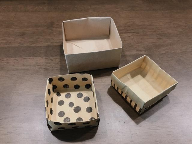 箱の折り方正方形